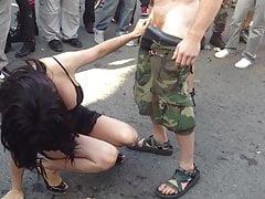 Fun lady at Folsom Street Fair 2012 San Francisco 2