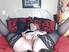 Hot chubby BBW masturbating and squirting
