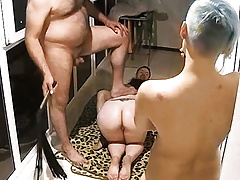 Lustful Adults Started Fun Orgy Smoking Action at Balcony